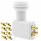 Mobile Preview: Anadol Gold Line Quad LNB 0.1 dB inklusiv 8 vergoldete F-Stecker gratis