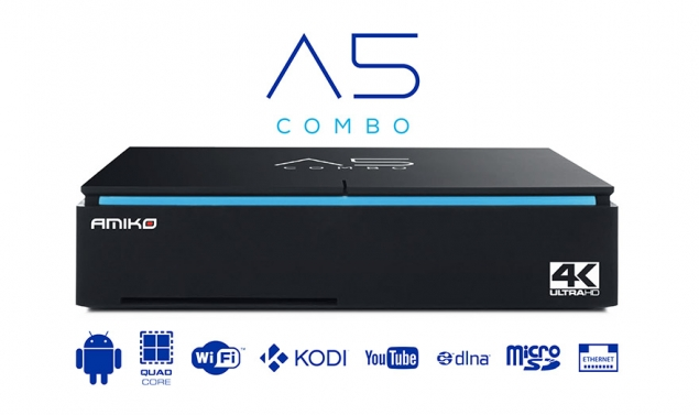Amiko A5 Combo 4K IPTV - DVB-S2/T2/C Enigma2 und Android Receiver