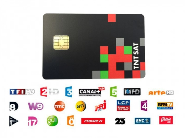 TNTSAT Smartcard HD Viaccess über Astra 19,2° French TV neuen Generation