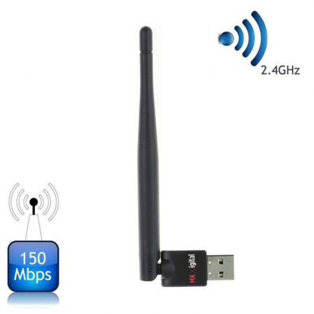 MK Digital USB WiFi WLAN Adapter 150 Mbit/s mit 3dBi Antenne