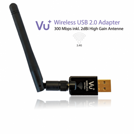 VU+ Wireless USB Adapter 300 Mbps inkl. Antenne