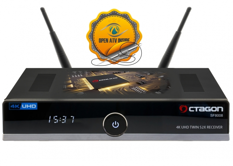 OCTAGON SF8008 4K UHD 2160p H.265 HEVC E2 Linux Wifi 2x DVB-S2X Twin Receiver