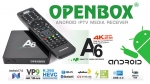 Openbox A6 UHD + 4K IPTV Android 7.0 Media Player,H 2.65, Wifi,Stalker