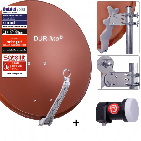 DUR-line Select 75 R + +Ultra Single LNB - 1 Teilnehmer Set