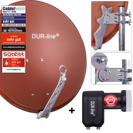 DUR-line Select 75 R + +Ultra Twin LNB - 2 Teilnehmer Set